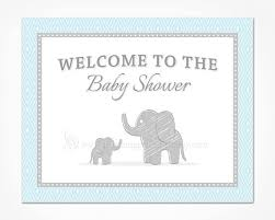 baby shower welcome sign blue elephant baby shower welcome sign printable instant