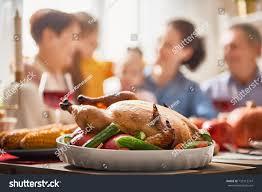 happy thanksgiving day autumn feast family stock photo 735112747