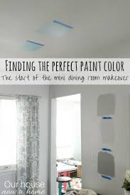 finding the perfect paint color and starting the mini dining room
