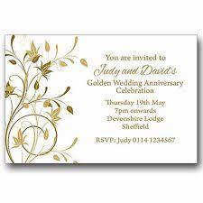 wedding anniversary invitations anniversary invitation cards ebay