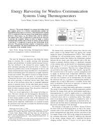 energy harvesting for wireless communication systems using