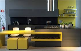 Yellow Kitchen Cabinet Furniture Yellow And Black Kitchen With Yellow Kitchen Cabinet