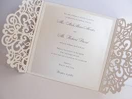wedding invitations laser cut gold foil pink laser cut wedding invitation