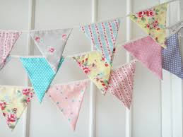 Pretty Bunting Flags New Shabby Chic Bunting Fabric Banners Wedding Bunting Floral