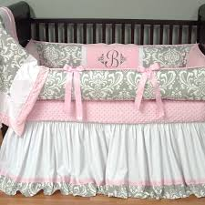 black white and pink crib bedding sets baby and nursery ideas
