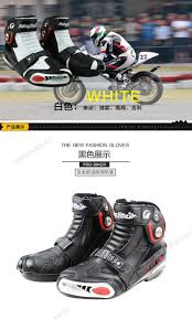 white motorbike boots motorcycle boots pro biker a009 speed moto racing motocross