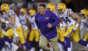 video watch lsu u0027s ed orgeron give his players passionate pregame