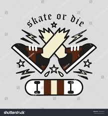 skate die label ornament element freestyle stock vector 368660459