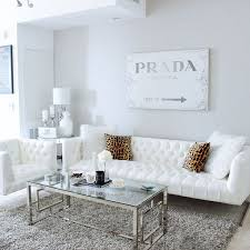white livingroom gray white living room decor white tufted sofa prada canvas