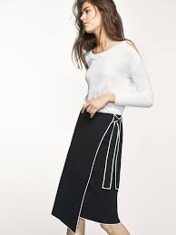 women s skirts summer 2017 women s skirt with side bow and contrast piping