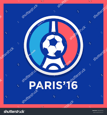 Football Flag Printing Football Soccer France Euro 2016 Logos Stock Vector 380407453