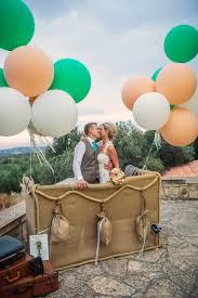 travel theme decor wedding photo booth travel theme air balloon peach and