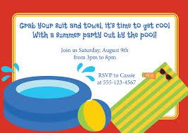 pool party invitation wording cloveranddot com