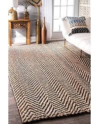 new savings on nuloom vania chevron jute rug 7 6 x 9 6 navy