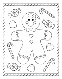 christmas gingerbread coloring pages getcoloringpages