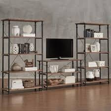 Tv Stand Bookcase Combo Media Cabinets Bookshelves U0026 Bookcases Shop The Best Deals For