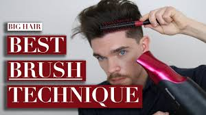 how to cut hair with rounded corners in back how to use a round brush for big hair youtube