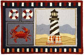 Lighthouse Bathroom Rugs Lighthouse Bath Rugs This Blue Colonial Lighthouses Wool Rug