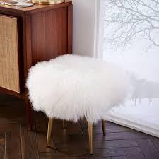 mongolian lamb stool west elm uk