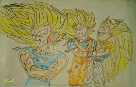 drawing vegeta super saiyan 3 goku super saiyan 3