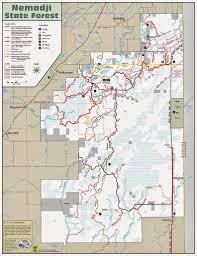 Namekagon River Map Day Hiking Trails September 2014