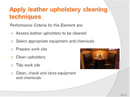 Leather Upholstery Cleaners Clean Public Areas Facilities And Equipment Ppt Download