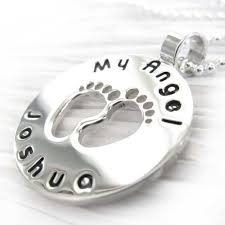 memorial necklace angel baby infant loss memorial necklace engraved pendant in