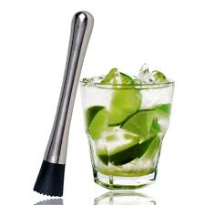 mojito cocktail stainless steel cocktail muddler bar and mixing spoon bar mixer
