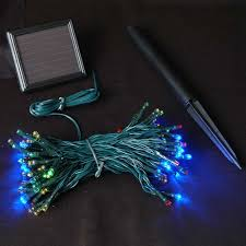 solar panel christmas lights multi colored solar christmas lights with 100 bulbs novelty lights inc