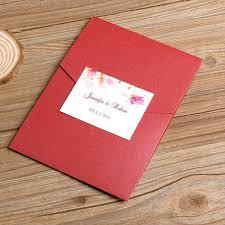 Affordable Pocket Wedding Invitations Affordable Spring Flowers Red Pocket Wedding Invitation Ewpi030 As