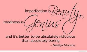 beauty imperfection quote