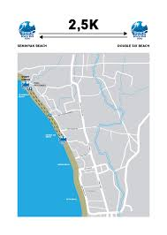 Map Running Route by The Running Route Bali Beach Run