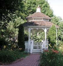 the gazebo located in the gardens at the white lace inn a b u0026 b