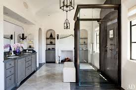 Stone Floor Bathroom - dale lobato oversees stone work at beautiful beverly hills mansion