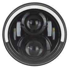 jeep headlights halo blackout range gen 5 7 inch half halo led projector headlight kit