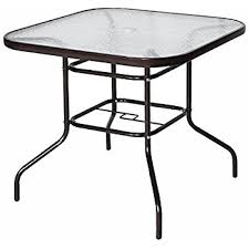 amazon com belleville 40 inch square patio dining table cell