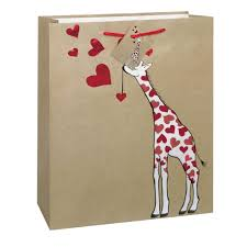 large gift bags large kraft paper giraffe gift bag s