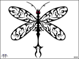 dragonfly drawings tribal dragonfly by alan47 on deviantart