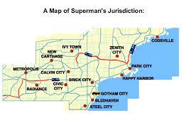Map Of Gotham City Superman U0027s Journey A Map Of Superman U0027s Jurisdiction Ppt Download