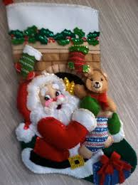 stocking stuffer completed handmade felt christmas stocking from
