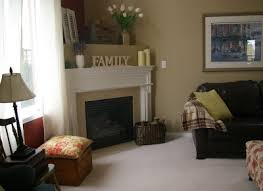 Oak Corner Fireplace by Interior Fair Picture Of Living Room Decoration Using Solid