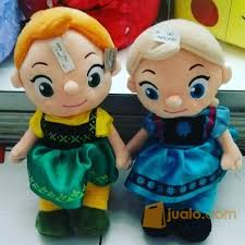 film kartun untuk anak bayi boneka tokoh film kartun the frozen baby cute fancy princess elsa