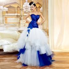 royal blue and white wedding dresses dress for country wedding