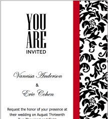 Red And Black Wedding Invitations Pages Black Red Wedding Invitations Template Free Iwork Templates