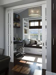 a perfect little home office nook i love the floors doors