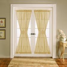 half glass door curtains door sheers u0026 french door curtains printed sheer door curtains