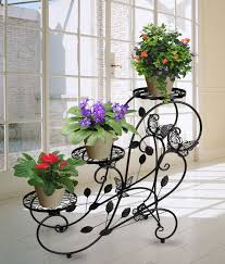 flower stand 3 tier metal flower stand plant pot display rack holder home
