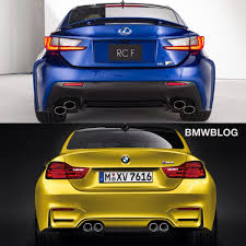 lexus rc f exhaust bmw m4 vs lexus rc f choose your favorite