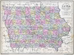 state of iowa map large detailed map of iowa state with roads and cities 1886