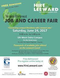 Resume For On Campus Jobs by 5th Annual Hire Leeward Job U0026 Career Fair Tickets Sat Jun 24